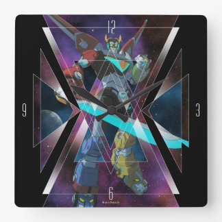 Voltron | Intergalactic Voltron Graphic Square Wall Clock