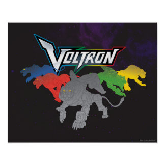 Voltron | Lions Charging Poster
