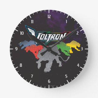Voltron | Lions Charging Round Clock