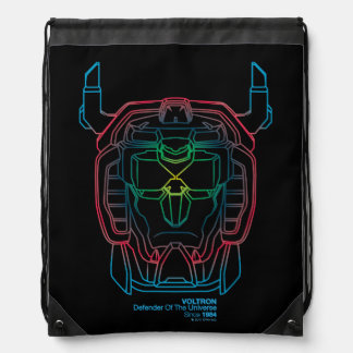 Voltron | Pilot Colors Gradient Head Outline Drawstring Bag