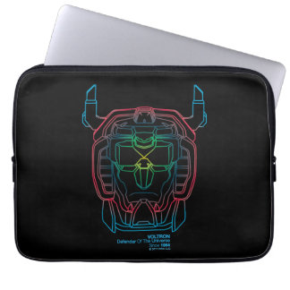 Voltron | Pilot Colors Gradient Head Outline Laptop Sleeve