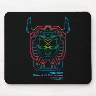 Voltron | Pilot Colors Gradient Head Outline Mouse Mat
