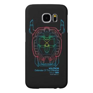 Voltron | Pilot Colors Gradient Head Outline Samsung Galaxy S6 Cases
