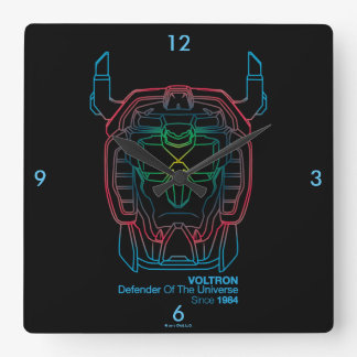 Voltron | Pilot Colors Gradient Head Outline Square Wall Clock