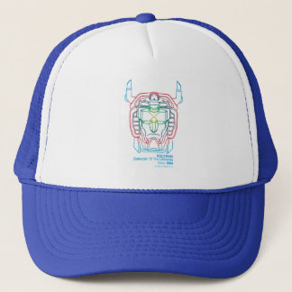 Voltron | Pilot Colors Gradient Head Outline Trucker Hat