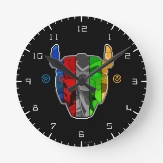Voltron | Pilots In Voltron Head Round Clock