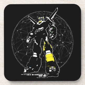 Voltron | Silhouette Over Map Coaster