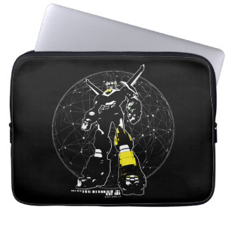 Voltron   Silhouette Over Map Laptop Sleeve