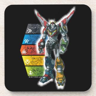 Voltron | Voltron And Pilots Graphic Coaster