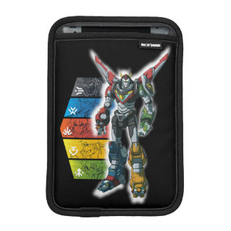 Voltron | Voltron And Pilots Graphic iPad Mini Sleeve