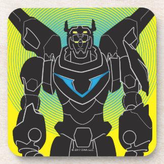 Voltron | Voltron Black Silhouette Coaster
