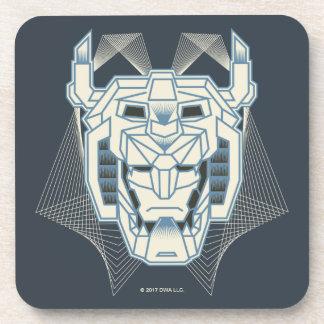 Voltron | Voltron Head Blue and White Outline Coaster