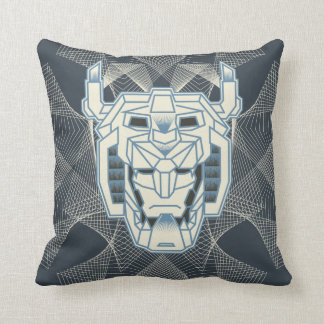 Voltron | Voltron Head Blue and White Outline Cushion