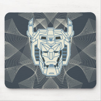 Voltron | Voltron Head Blue and White Outline Mouse Pad