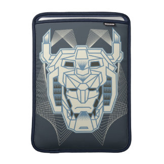 Voltron | Voltron Head Blue and White Outline Sleeve For MacBook Air