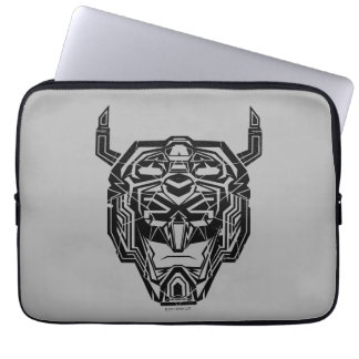 Voltron | Voltron Head Fractured Outline Laptop Sleeve