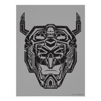 Voltron | Voltron Head Fractured Outline Poster
