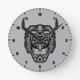 Voltron | Voltron Head Fractured Outline Round Clock