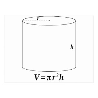 Volume of a Cylinder Postcard
