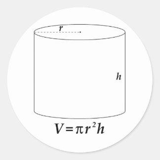 Volume of a Cylinder Round Sticker