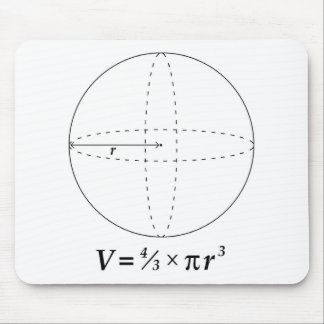 Volume of a Sphere Mouse Pad