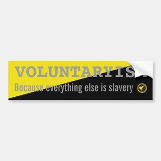 Voluntaryism-sticker Bumper Sticker