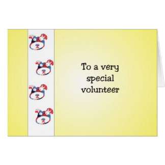 Volunteer Appreciation Card