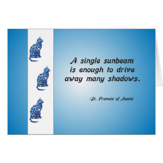 Volunteer Appreciation Cat and Sunbeam Quote Greeting Cards