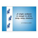 Volunteer Appreciation Cat and Sunbeam Quote Post Cards
