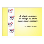 Volunteer Appreciation Dog Face and Sunbeam Quote Post Card