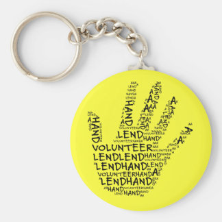 Volunteer Awareness: Lend a Helping Hand Key Ring