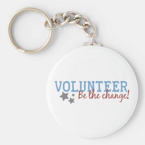 Volunteer Be The Change Basic Round Button Key Ring