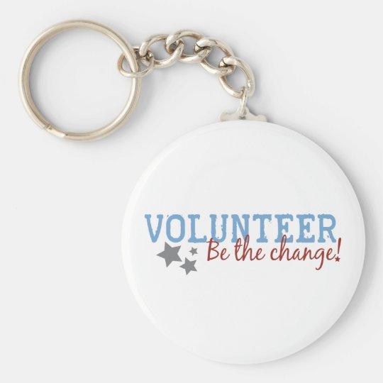 Volunteer Be The Change Key Ring