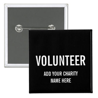 VOLUNTEER BUTTON PIN | BLACK