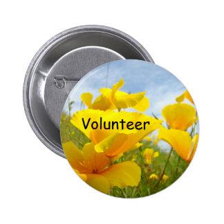 Volunteer Buttons Poppy Flowers Meadow Sky