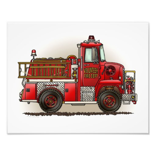 Volunteer Fire Truck Photo Art