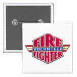 Volunteer Firefighter 15 Cm Square Badge