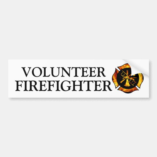 Volunteer Firefighter Bumpersticker Bumper Sticker