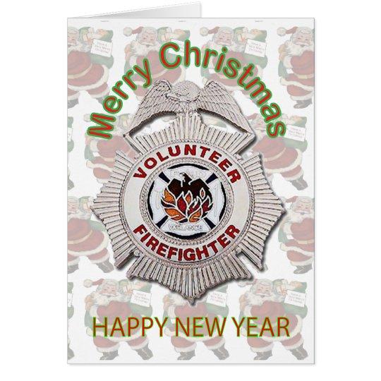 Volunteer Firefighter Christmas Card