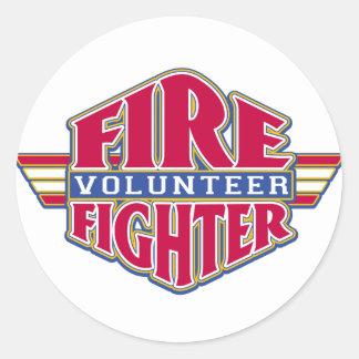 Volunteer Firefighter Classic Round Sticker