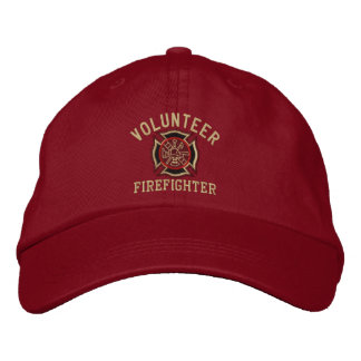 Volunteer Firefighter Custom Embroidery Embroidered Cap