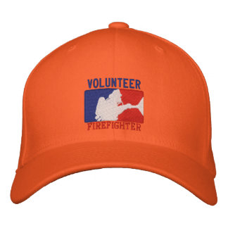 Volunteer Firefighter Custom Embroidery Embroidered Hats