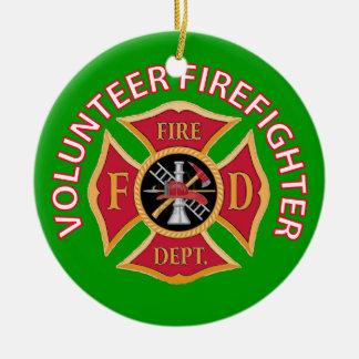 Volunteer Firefighter Custom Round Ceramic Decoration