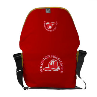 Volunteer Firefighter Logo Courier Bags