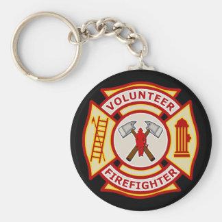 Volunteer Firefighter Maltese Cross Key Ring