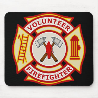 Volunteer Firefighter Maltese Cross Mouse Pad