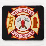 Volunteer Firefighter Maltese Cross Mousepad