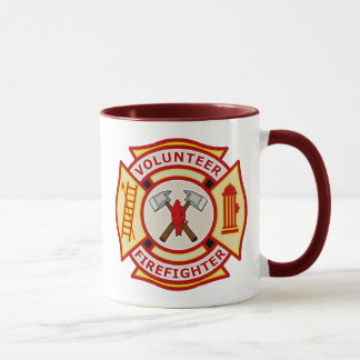 Volunteer Firefighter Maltese Cross Mug