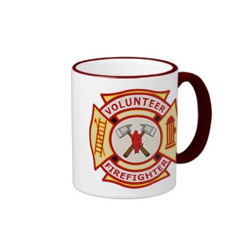 Volunteer Firefighter Maltese Cross Coffee Mugs