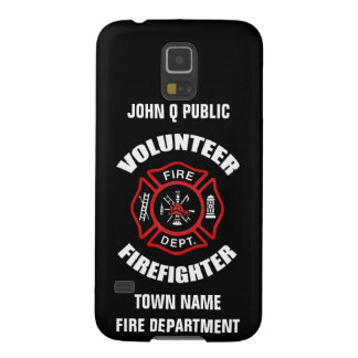 Volunteer Firefighter Name Template Galaxy S5 Covers